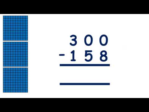 Subtract using the column method, exchanging across more than one place value