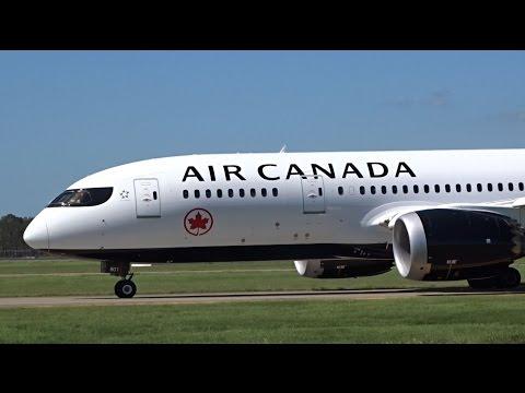 NEW LIVERY Air Canada Boeing 787-8 Dreamliner [C-GHPQ]   Landing   Brisbane Airport