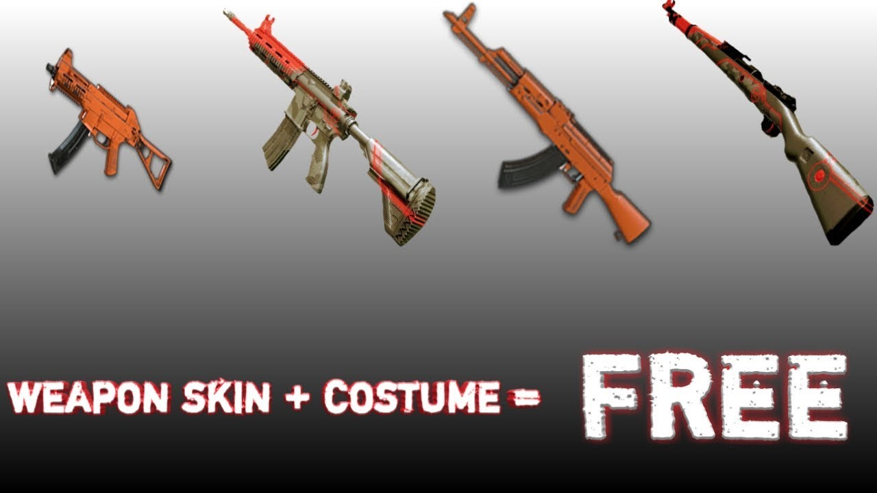 How To Get Free Weapon Finishes And Outfits || Pubg Mobile || INacTive