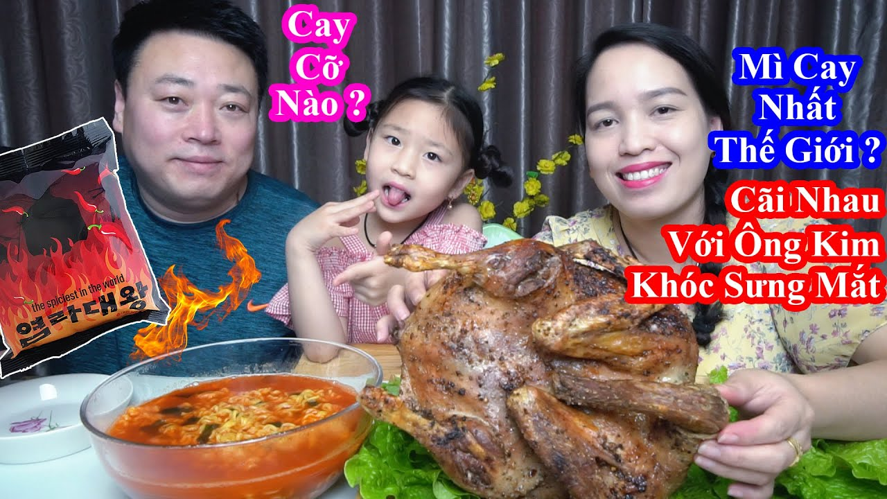 Bé Lai Việt Hàn 5 Tuổi Ăn Mì Cay Nhất Thế Giới Siêu Đỉnh. Vịt Nướng Dầu Oliu Thơm Phức [염라대왕 라면]
