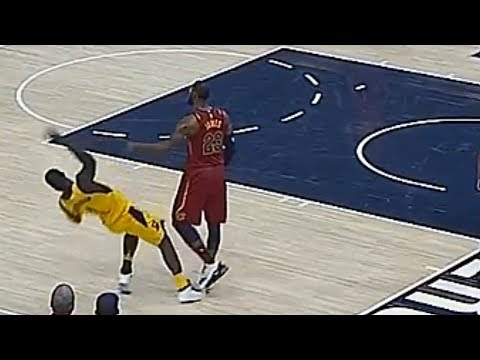 LeBron James Got Tired Of Lance Stephenson and Shoves Him! Cavaliers vs Pacers