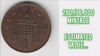 UK 1973 1P ONE NEW PENNY Coin VALUE REVIEW