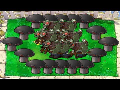 Plants vs Zombies Hack 879 Doom-shroom vs Giga-gargantuar