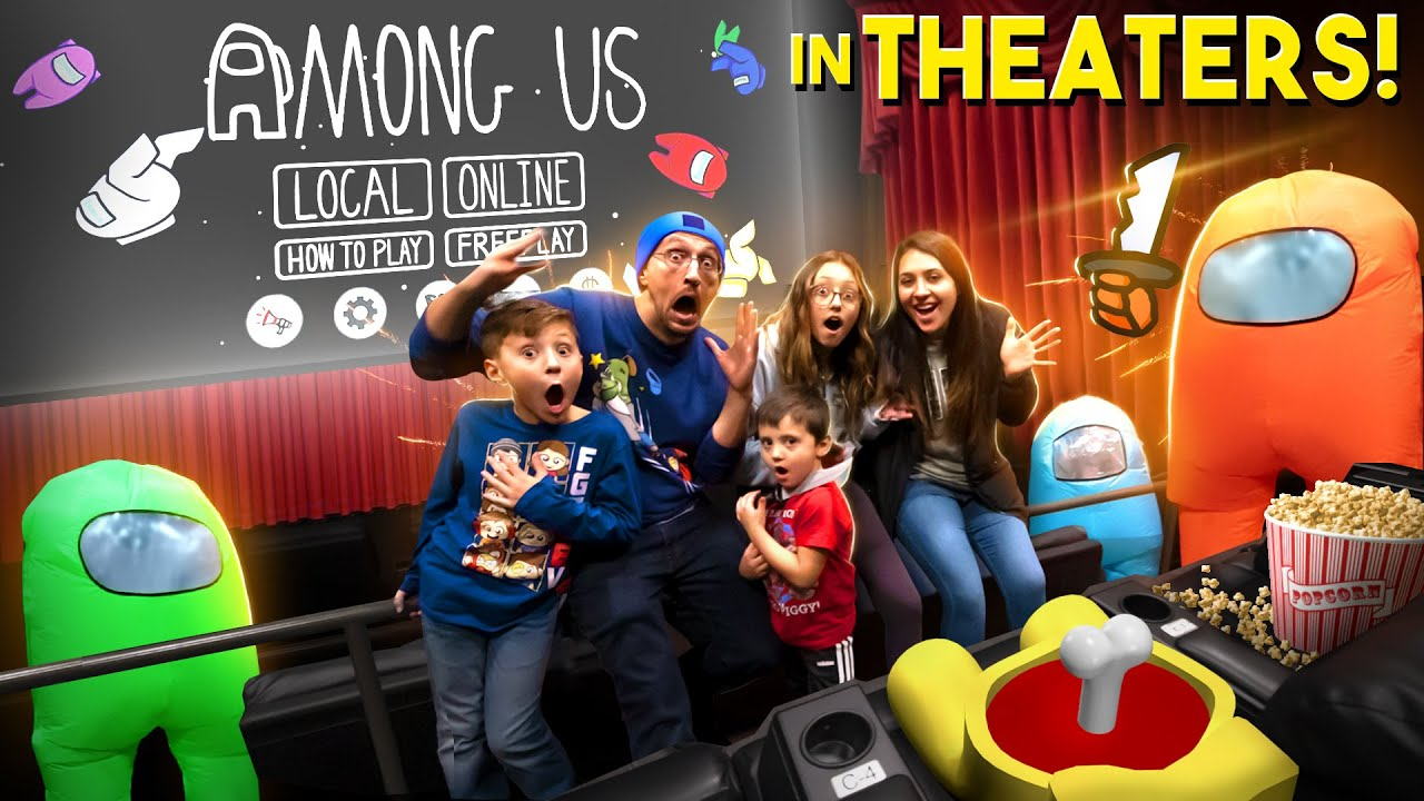 Download AMONG US @ the MOVIE THEATERS!  Gameplay + Hide and Seek + Real Life Cosplay (FGTeeV)