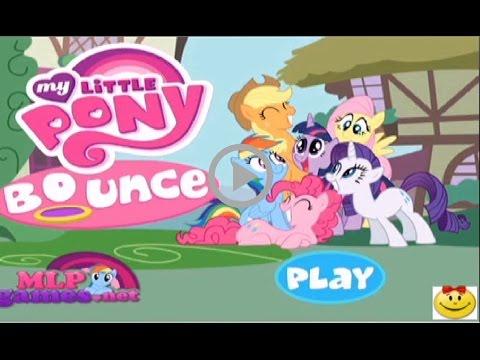 Прыжки на батуте. Май Литл пони. Видео игры.Jumping on the trampoline. My little Pony. Video games.