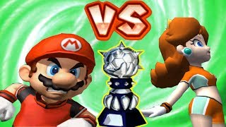 Super Mario Strikers - Mario Vs Daisy Round 1 (Professional Difficulty) in Bowser Cup