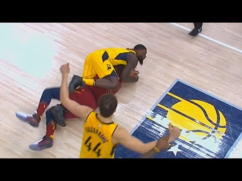 Lance Stephenson WRESTLES with Jeff Green in Game 4 (VIDEO)