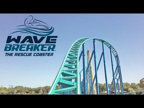 Wave Breaker The Rescue Coaster HD Front Seat On Ride POV & Review. SeaWorld San Antonio Texas 2017!