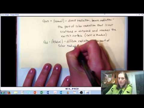 LECTURE 7 (PART D): Solar Radiation - Solar Irradiation