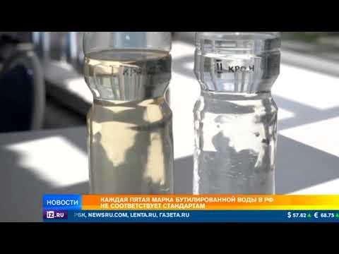 Роскачество назвало опасными 20% бутилированной воды