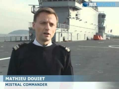 Mistral helicopter carrier French Navy demonstration Video RIA Novosti