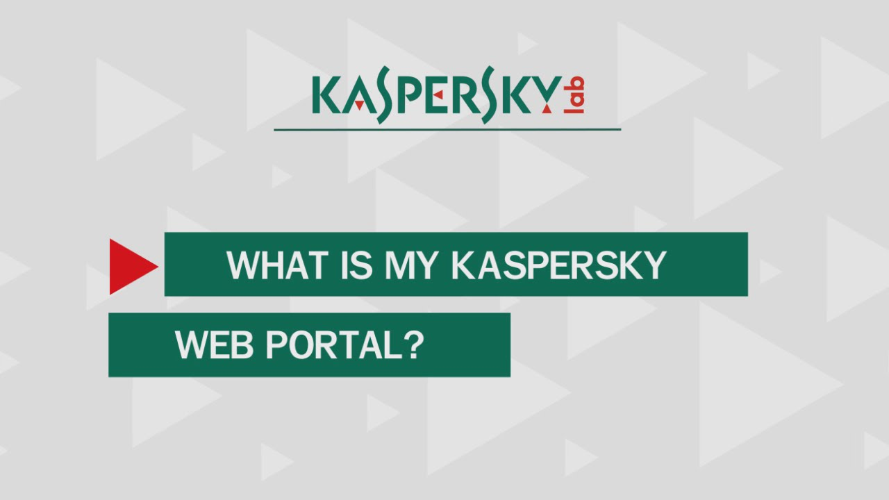 What is My Kaspersky Web Portal?