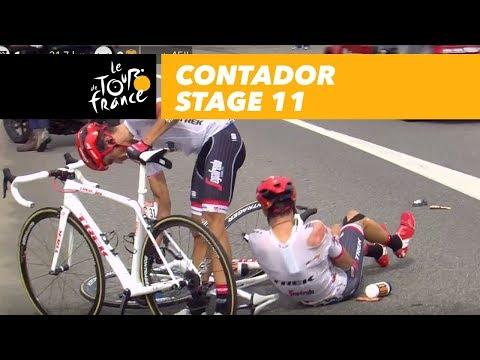 Contador crashed and got up - Stage 11 - Tour de France 2017