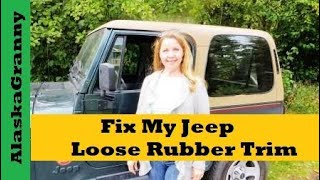 Fix My Jeep Loose Rubber Trim Tear Mender Adhesive Glue