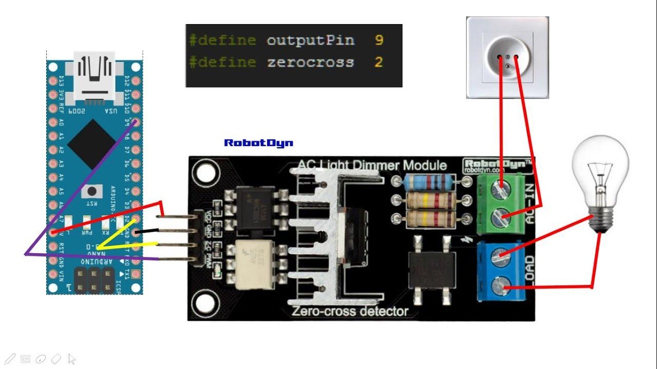 [SOURCE CODE] PWM Dimmer Arduino - Zero Crossing