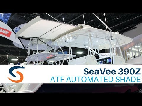 SeaVee 390Z Demo of SureShade ATF Automated Boat Shade