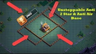 BH5 Unstoppable Anti 2 Star and Anti Air Base 2900+ Cups   Clash of Clans Builder Hall Base