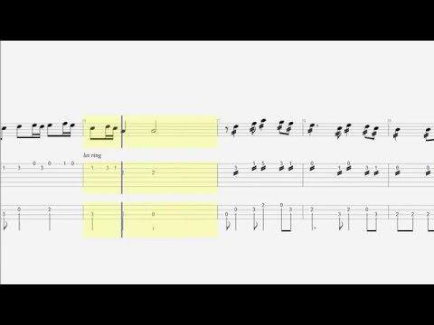 Guitar Tab - Bass - Tetris Theme - Notes