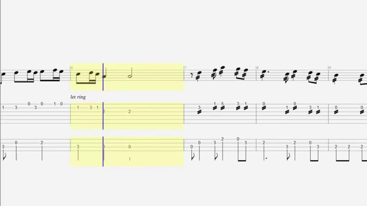Guitar tab bass tetris theme notes