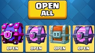 OPENING ALL MY GOOD CHESTS :: Clash Royale :: SUPER MAGICAL CHEST OPENING!