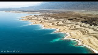 Earth Lowest place - The Dead-Sea   Israel From Above   AirWorks 4K Aerial Photography