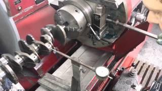 AMC-K1500U How to calibrate  Crankshaft. (AMC-1500U como centrar un cingueñal)