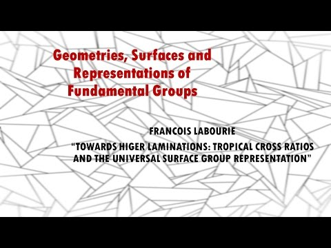 """""""TROPICAL CROSS RATIOS AND THE UNIVERSAL SURFACE GROUP REPRESENTATION""""--Francois Labourie"""