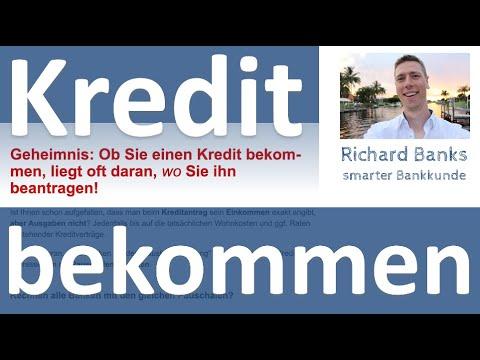 Geheimnis: Ob Sie einen Kredit bekommen, liegt oft daran, wo Sie ihn beantragen!
