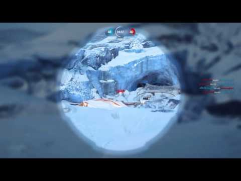 Star Wars Battle Front:Ice cave & Rebel deport Multiplayer video #1