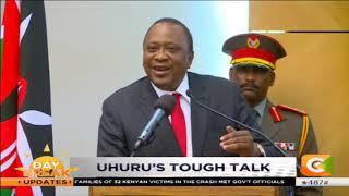 President Kenyatta assures that ongoing war against graft continues