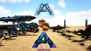 Ark Genesis vs Ark Aberration || Ark Battle