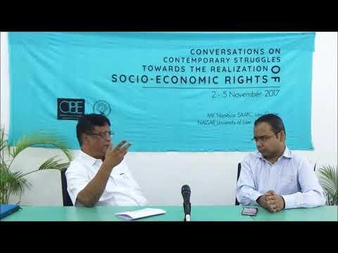 Conversations   Mr. Raghu Kumar   Mr. Saurabh    THE REALISATION OF SOCIO-ECONOMIC RIGHTS