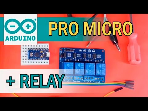 Как подключить реле к Arduino Pro Micro