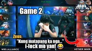 Game2 Aether Main VS White Rascals MANIAC is REAL | MPL-PH S2 Week6 Day1