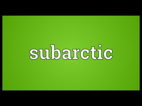 Subarctic Meaning