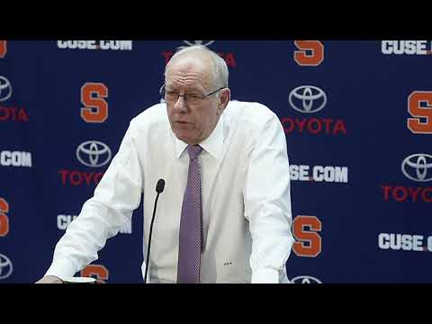 Jim Boeheim postgame news conference after Syracuse basketball vs. North Carolina State (2018)
