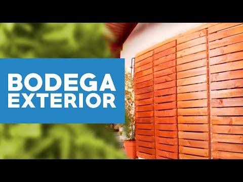 C mo hacer una bodega de exterior youtube for Guarda herramientas para jardin