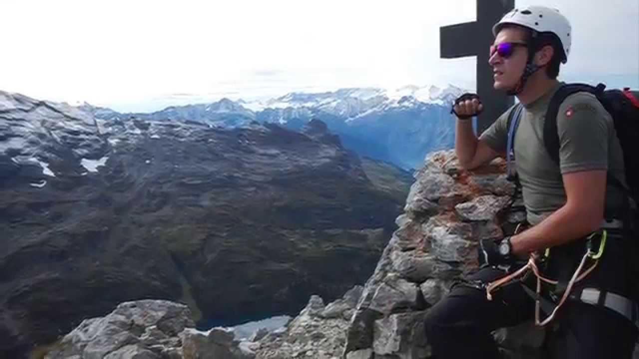 Klettersteig Graustock : Klettersteig graustock youtube