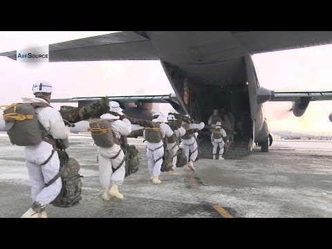 US Military Paratroopers Arctic Airborne Jump in Extreme Cold