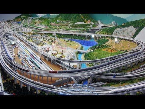 Best model train layout - A day in Japanese trains at the Railway Museum Saitama
