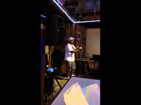 Karaoke night at AJ's Belize