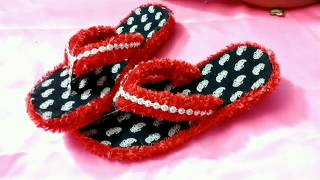 How to decorate waste slipper(chappal)