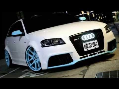 Audi Front Grill LED Illuminated Badge Light Emblem - 27.5cm x 9.5cm