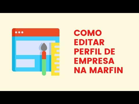 Como Editar Perfil Empresa na Marfin