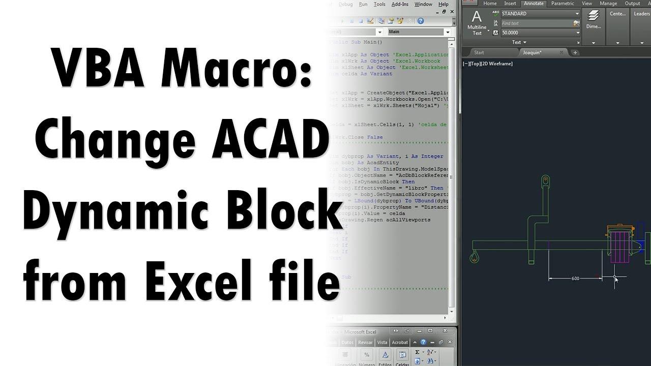 AutoCAD - VBA Macro: Change dynamic Block from Excel