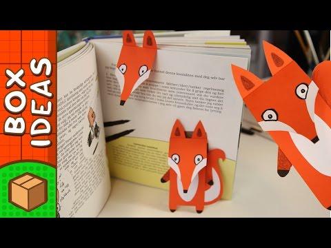 DIY Bookmark - Fox | Craft Ideas for Kids on Box Yourself