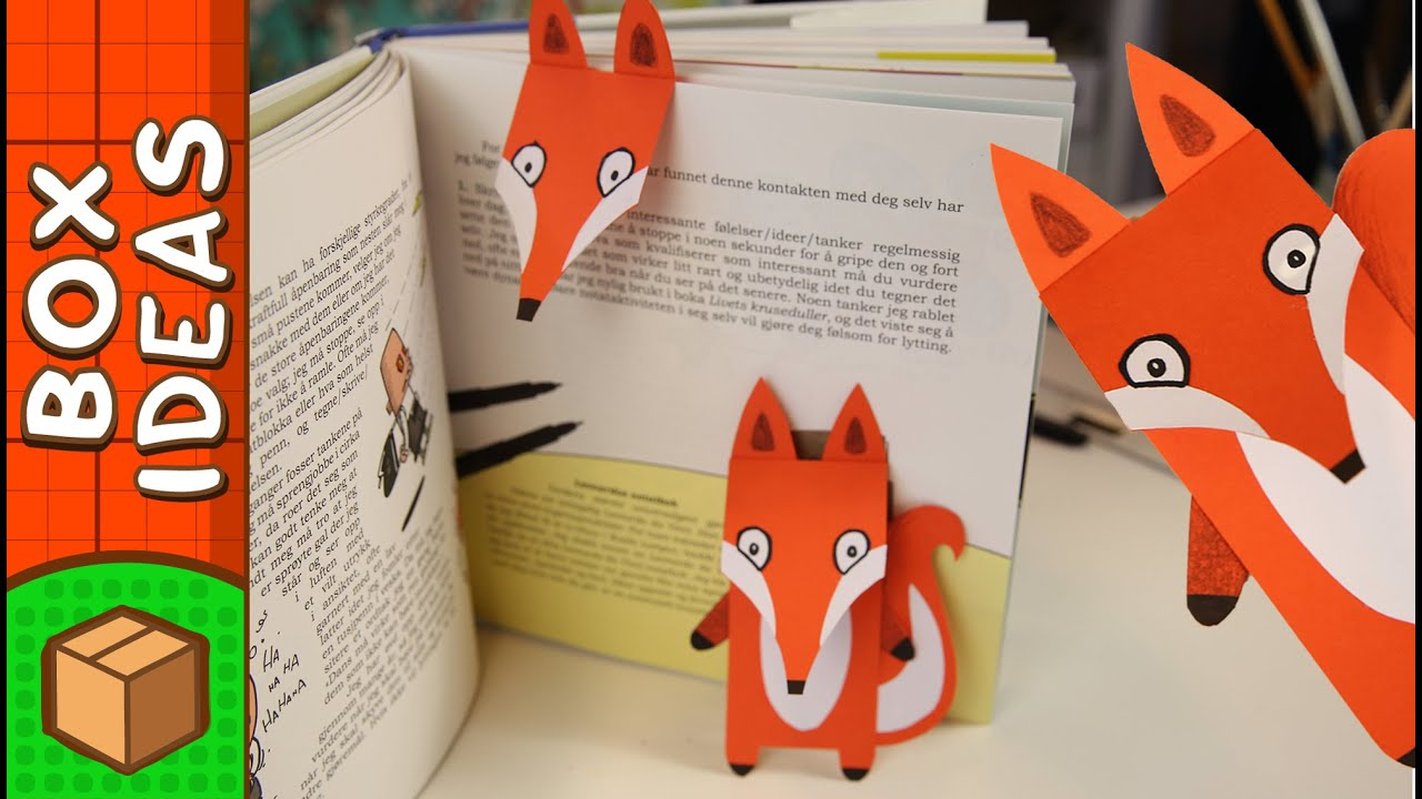 DIY Bookmark   Fox | Craft Ideas For Kids On Box Yourself   YouTube