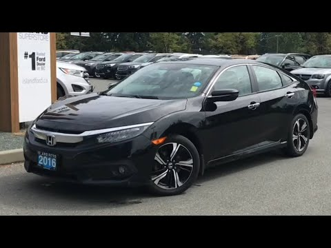 2016 Honda Civic Touring, Moonroof, Backup Camera, Nav Review| Island Ford