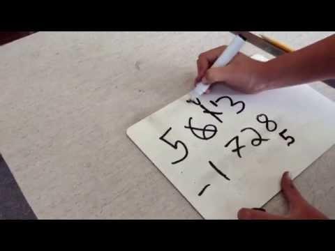 Subtraction using Vertical Method Algorithm