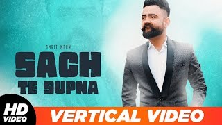 Sach Te Supna Vertical Lyrical Amrit Maan Romantic Song Latest Punjabi Songs 2019